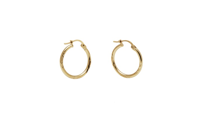 Groupon gold earrings