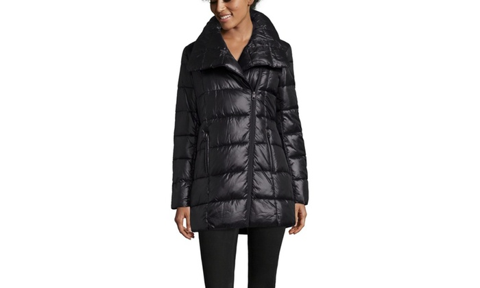 9e500792beb KENNETH COLE Down Coat With Wide Pillow Collar