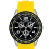 Unlisted by Kenneth Cole Men's Yellow Silicone Strap Analog Watch