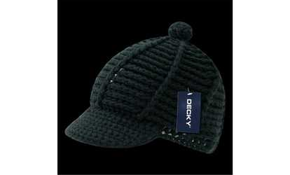 ff979cf20ee1c Shop Groupon Decky 624-BLK Crocheted Short Jeep Cap Black
