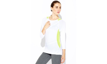 VOGO Colorblock Three-Quarter Sleeve Top