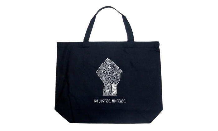 Large Tote Bag - No Justice, No Peace