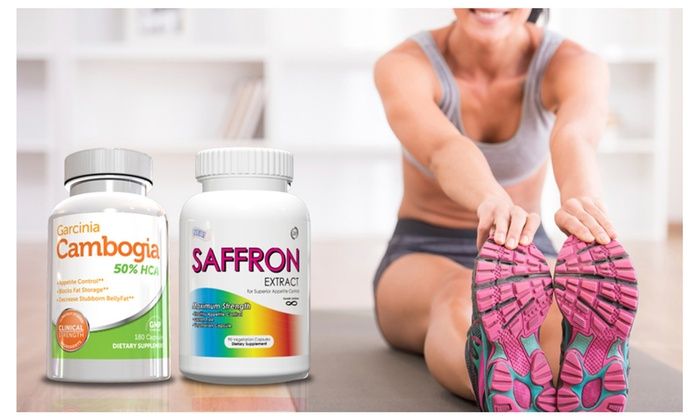 Buy It Now : Garcinia Cambogia Belly Fat Burner and Saffron Extract Weight Loss Kit