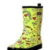 Women's Colorful Cute Printed Rubber Midi Rain Boots