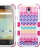 Insten Hybrid Silicone Case For Alcatel One Touch Elevate Purple Pink