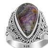 Orchid Jewelry 925 Sterling Silver 7 Carat Sugilite Fashion Ring