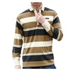 Men's Casual Loose Pull Over Stripe Long Sleeve Cotton Skirt