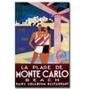 La Plage de Monte Carlo Beach Canvas Print