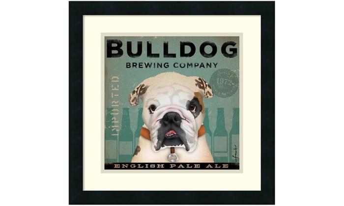 Stephen Fowler Bulldog Brewing Framed Art Print 18x18 In