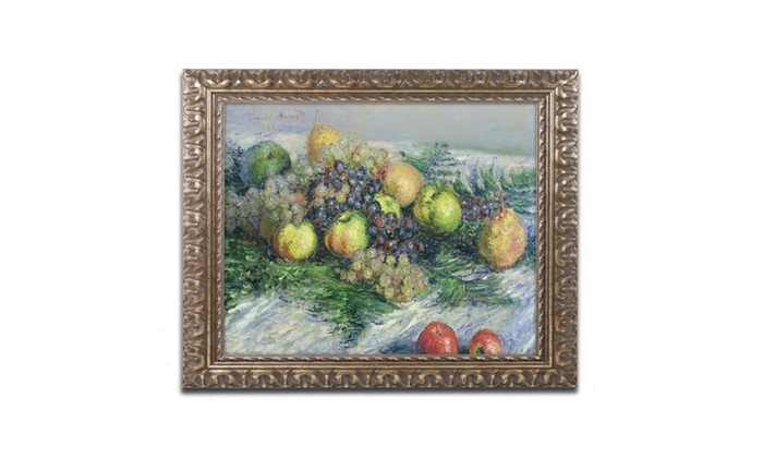 Groupon Goods: Monet 'Still Life with Pears and Grapes' Ornate Framed Art