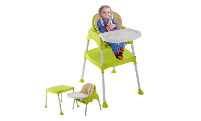 3 in 1 Baby High Chair Convertible Table Seat Booster Toddler Feeding ...  sc 1 st  Groupon & 3 in 1 Baby High Chair Convertible Table Seat Booster Toddler ...