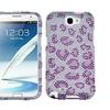 Insten Leopard Skin Purple Case for Galaxy Note II, T889 I605 N7100