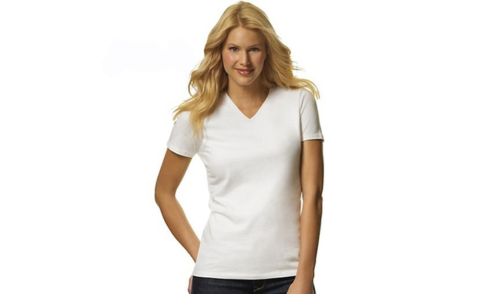 Hanes 3-Pack ComfortSoft V-Neck Tees, 51W3WH