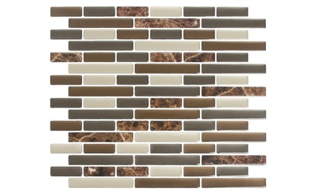Peel Impress 24088 Adhesive Wall Title in Mixed Brown Marble ae6feda8-7323-4ce5-8001-4610d7a21dc2
