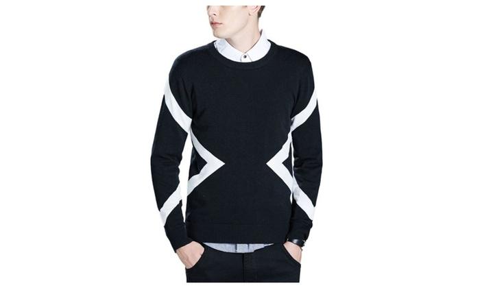 DPN Men's Chic Retro 2015 Autumn Lycra Pullovers 2 Colors