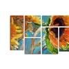 Richard Wallich 'Sun 11' Multi Panel Canvas Art Set