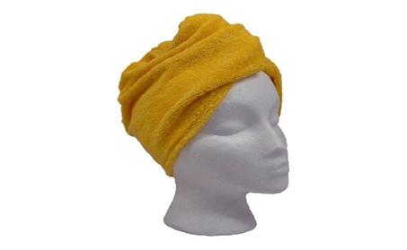 Microfiber Hair Twist Towel (Single or 4-pack) (Yellow) 44a7681f-217e-4010-b4c4-8dad945217cd