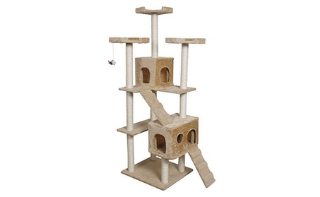 Cat Kitty Tree Tower Condo Furniture Scratch Post Pet Home Bed Beige (Goods Pet Supplies Cat Supplies Trees & Furniture) photo