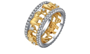 Gold Elephant Ring
