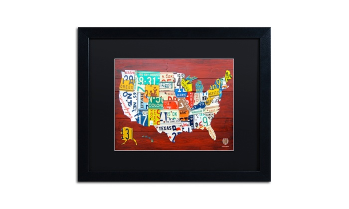 Design Turnpike 'License Plate Map USA' Matted Black Framed ... on license plate world map, map usa map, color usa map, leapfrog interactive united states map, flag usa map, basketball usa map, baseball usa map, paint usa map, golf usa map, motorcycle usa map, driving usa map, decals usa map, watercolor usa map, art usa map, reverse usa map, list 50 states and capitals map, state usa map, time usa map, license plate map art, license plates for each state,
