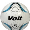 Voit Size 5 Player Soccer Ball Deflated - White and Blue Graphic