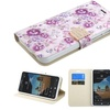 Insten Flip Leather Fabric Case For Alcatel One Touch Fierce XL Purple