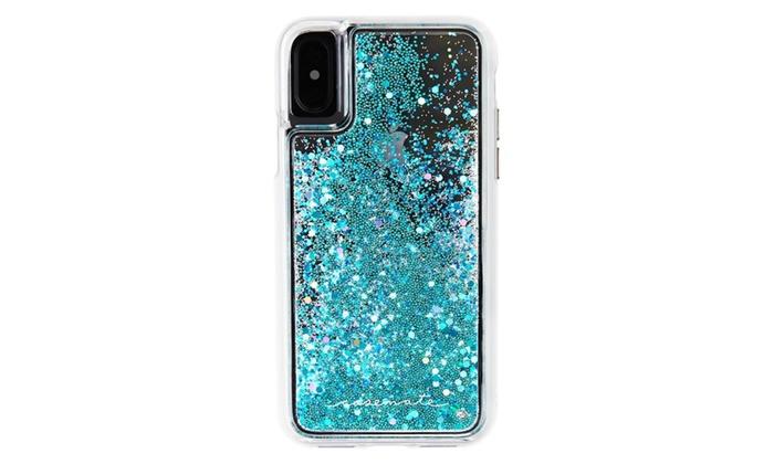 competitive price 72b8b 3533a Case-Mate iPhone X Case Glow in The Dark Cascading Liquid Glitter ...