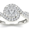 10k White Gold 1/2ct TDW Diamond Bypass Ring (H-I, I2)