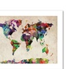 Michael Tompsett 'Urban Watercolor World Map' Canvas Rolled Art