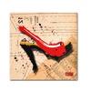 Roderick Stevens Suede Heel Red Canvas Print