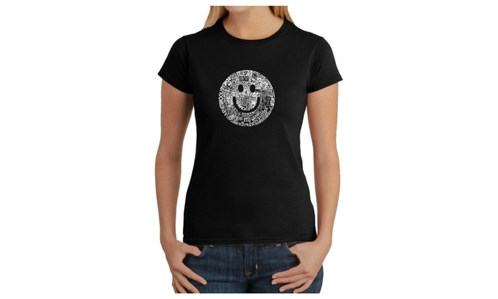 Women's T-Shirt - SMILE IN DIFFERENT LANGUAGES
