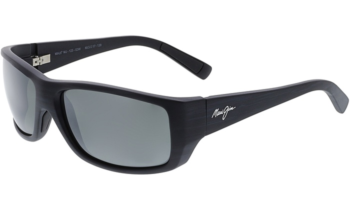 3822b969f8fcf Maui Jim Men s Polarized Wassup 123-02W Black Rectangle Sunglasses ...