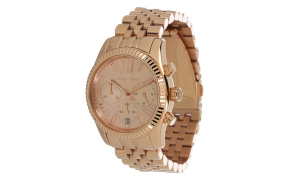 7ddff827f9a5 Deal Options. Women s Michael Kors Rose Gold Lexington Chrono Watch MK5569