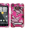 Insten Rebel Stars Diamante Phone Case for HTC: EVO 4G