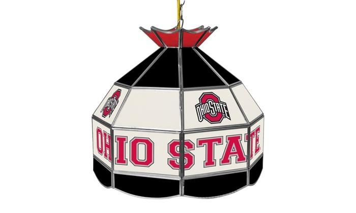 The Ohio State Glass Tiffany Lamp - 16 inch diameter