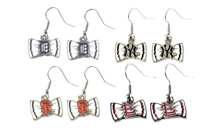 MLB Bow Tie Earrings