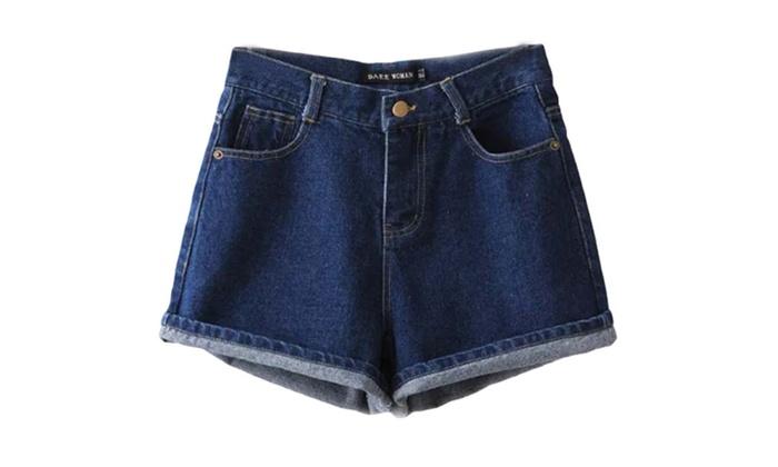 Women's Solid Zipper Hot Pant Fashion Solid Denim Shorts