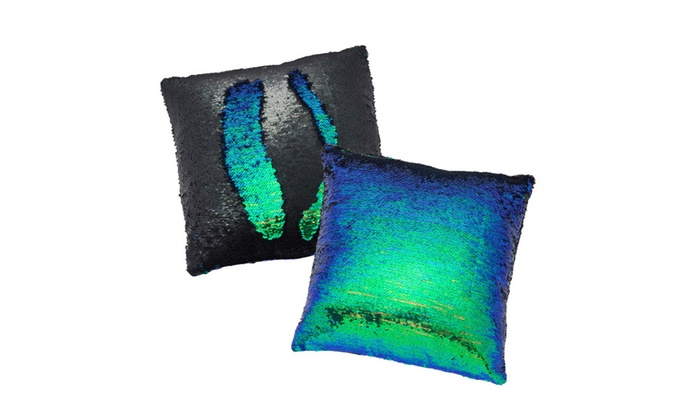 mermaid sequin pillow cover groupon