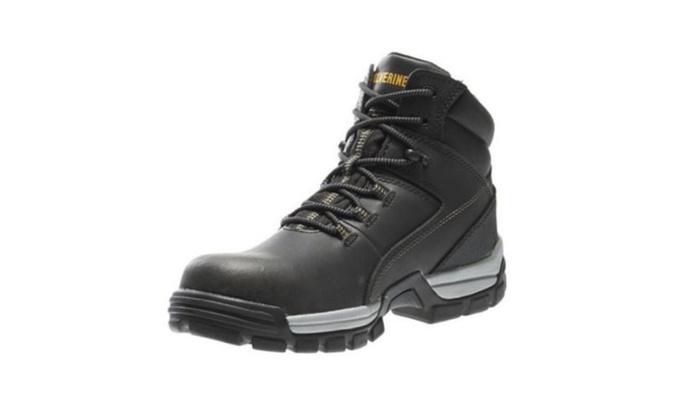 097d6b4fadc Wolverine Men's Tarmac 10304 Black Leather 6