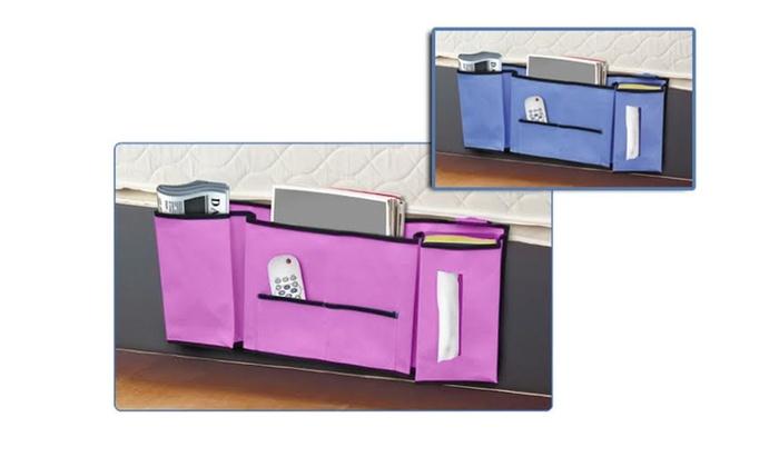 Compact Bedside Caddy Pocket Storage Bag