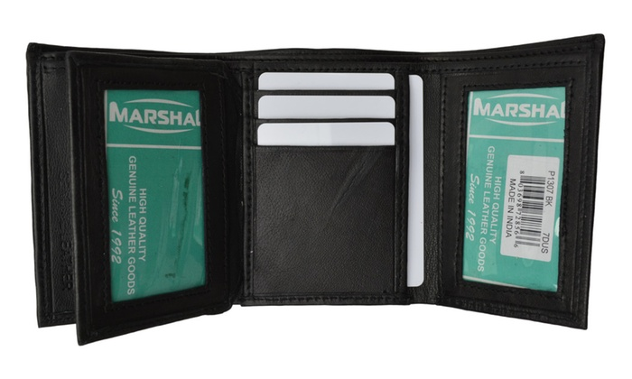 up to 37 off on mens trifold wallet extra cap groupon goods