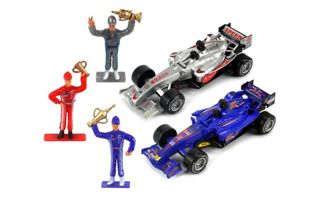 F Power Formula One Racing Toy Friction Car Playset (Colors May Vary) 5a30e0d1-47c4-425b-80bb-fd0d2ee3d09a