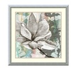 Jennifer Goldberger 'Pastel Magnolias II' Framed Art Print 24 x 24-in