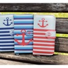 Anchor Chevron Pattern Premium PU Leather Wallet For Iphone & Samsung