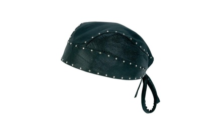 Solid Genuine Leather Skull Cap With Or Without Studs