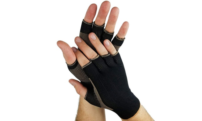 0380a920a2 Copper Compression Comfort Gloves Arthritis Speeds Recovery in Hands ...