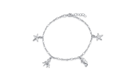 Bling Jewelry Sterling Silver Nautical Octopus Starfish Charm Anklet fed5f4ec-8c12-4f8b-a801-7817aa17b967