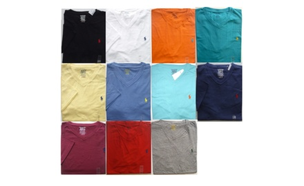 Polo Ralph Lauren V - NECK Logo T Shirt Assorted Colors and size S, M, L, XL,