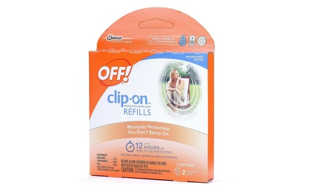 Johnson Wax 70319 2 Count Clip On Mosquito Repellent Refill