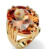 24.02 TCW Cubic Zirconia 14k Gold-Plated Ring